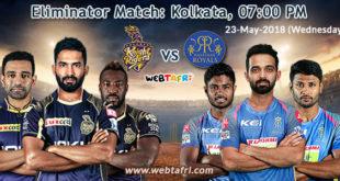 IPL 2018 Eliminator Match