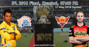 IPL 2018 Final Match Live Score Update