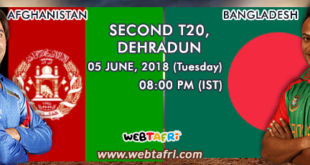 Live T20 Cricket Afghanistan Vs Bangladesh