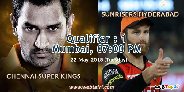 IPL Qualifier Match 1 Live Score