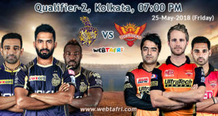 Live IPL Qualifier Match 2 Score