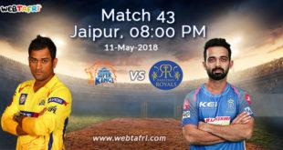 IPL Match 43 Live Score