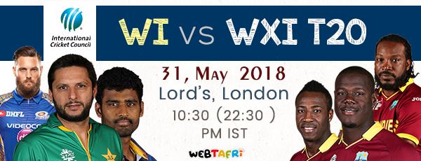 Live ICC WI vs World XI T20 Match