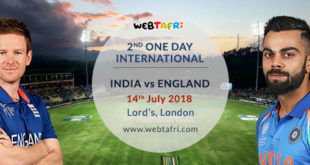 2nd ODI Live Scoreboard