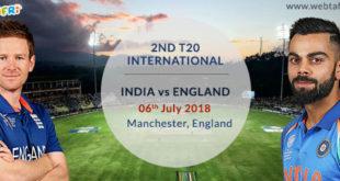 Live Score India vs England T20