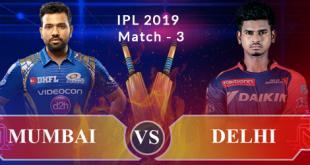 IPL 2019 Live Scoreboard