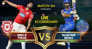 IPL 2019 Match-4 Live Score