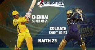 IPL 2019 CSK vs KKR