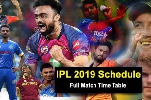 IPL 2019 full schedule
