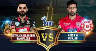 IPL ive score RCB vs KXIP