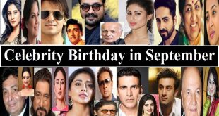 Celebrities Birthday in September